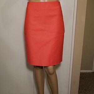 J. Crew Coral No. 2 Pencil Skirt
